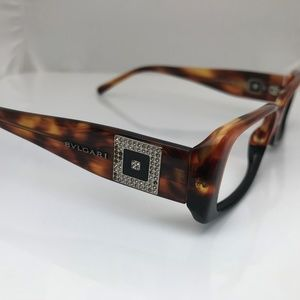 BVLGARI Frame Ladies Eye Glasses Frame Brown Plast